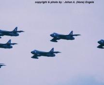 Hawker Hunters , La Patr. de Suisse , Deelen 1988 (HE)
