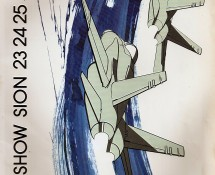 (1989) brochure cover progr. Vliegshow Sion , Zwitserland , 23 en 24 juni 1989 (coll.J.A.Engels)