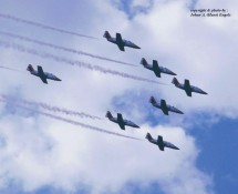 CASA Aviojet Spaanse LM Patr.Aguila formatie Sion 23-6-1989 J.A.Engels