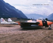 De Havilland Vampire J-1082 Zwits.LM Sion 24-6-1989 J.A.Engels