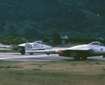 De Havilland Vampire J-1156 (en J-1143) Zwits.LM Sion 23-6-1989 J.A.Engels
