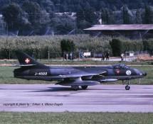 Hawker Hunter J-4022 Zwits.LM Patr.de Suisse Sion 24-6-1989 J.A.Engels