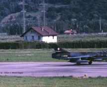 Hawker Hunter J-4028 Zwits.LM La Patr.de Suisse Sion 24-6-1989 J.A.Engels