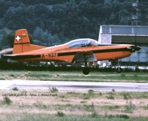 Pilatus PC.7 A-927 Zwits.LM Sion 23-6-1989 J.A.Engels