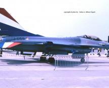 F-16A J-058 K.Lu. (demo a-c) MVK Valkenburg 1-6-1990 J.A.Engels