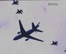 KDC-10 K.Lu. + 4x F-16 K.Lu. fly-by Gilze Rijen 21-6-2014 J.A.Engels