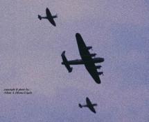(warbird) 2x Spitfire + 1x Lancaster BoB.Mem.Flt. Gilze Rijen 21-6-2014 J.A.Engels