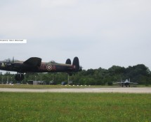 (warbird) Avro Lancaster PA474 (KC-A) BoBMemFlt (+ MIG 29) Gilze Rijen 21-6-2014 J.A.Engels