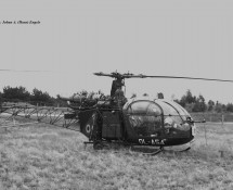 Alouette II Belg.LM OL-A54 Keiheuvel 29-8-1971 J.A.Engels