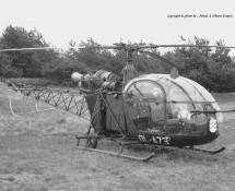Alouette II Belg.LM OL-A73 Keiheuvel 29-8-1971 J.A.Engels