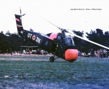 Sikorsky S-58 Belg.LM OT-ZKK(1) Keiheuvel 29-8-1971 J.A.Engels