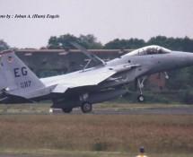 F-15C 85-117 EG (USAF 33 TFW Eglin) Soesterberg  6-6-1990 J.A.Engels