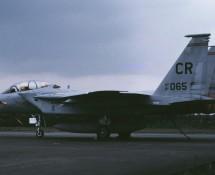 F-15D 81-065 CR (USAFE 32 FS) Soesterberg 6-6-1990 J.A.Engels
