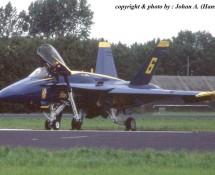 F-18 Hornet USN Blue Angels 6 Leeuwarden 16-6-2006 J.A.Engels