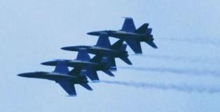 F-18 Hornet USN formatie Blue Angels Leeuwarden 16-6-2006 J.A.Engels