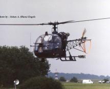 Alouette II Belg.LM A57 demoteam Blue Bees Florennes 23-6-1979 J.A.Engels