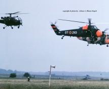 Alouette III + Sikorsky S-58 + Sea King formatie Florennes 23-6-1979 J.A.Engels