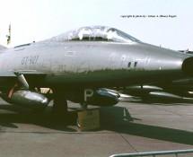 North American F-100F Super Sabre GT-927 Deense LM Florennes 23-6-1979 J.A.Engels