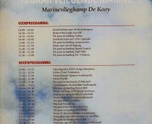 brochure with programme Open Day De Kooij,5-6-1992 (coll.J.A.Engels)