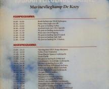 brochure with programme Open Day De Kooij,5-6-1992 (coll.J.A.Engels)