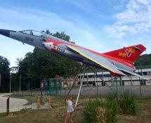 Mirage F-1 at Les Andelys in August 2019 (Courtesy Isa van den Berg)