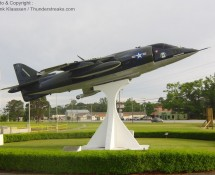 AV-8A 158976 is displayed in Havelock (NC) in May 2012 (FK)
