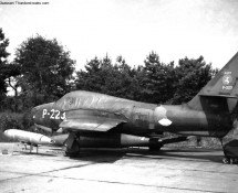 P-224 in its dispersal at Eindhoven in the late xixties (FK)