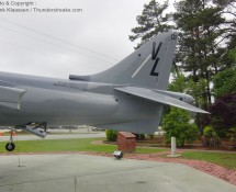 McD-Douglas AV-8B 162969 USMC is gate-guard at MCAS Cherrypoint, NC in May 2012 (FK)