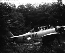 KLu Harvard B-44 near the 314 sqn dispersal area of Eindhoven AB in 1967 (FK)