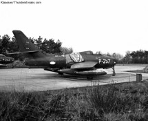P-257 at its 314 squadron dispersal area in the late sixties (FK)