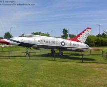 F-100D Super Sabre 54-2145 in Thunderbirds markings (FK)