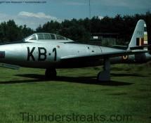 Thunderjet KB-1/FS2 as a monument a Kleine Brogel in 1978 (FK)