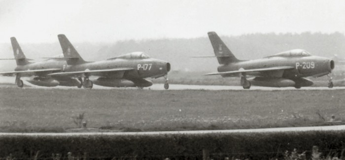 P-177 is taxiing to the Eindhoven runway, picture taken in the late sixties (FK)
