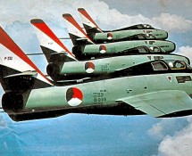 P-232 in a 4 ship formation of the Whiskey Four 67 aerobatic team on an official KLu photo (photo coll. FK)