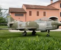 Fia t G-91R parked in a garden in Piombino Dese