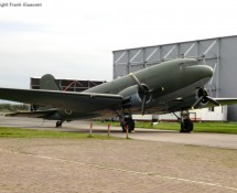 Dakota used as a prop for a musical at the former airbase of Valkenburg (NL) in Oktober 2012 (FK)dak