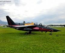 Alphajet, displayed on the Red Bulls premisses at Innsbruck Airport in July 2012 (FK)rbaj